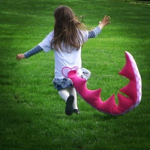 Pink Dinosaur Tail