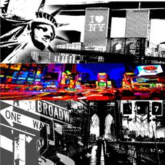 """NYC: The Streets"" Canvas Print or Original"