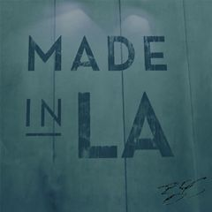 """Made In LA"" Steel Blue 30""x30"" Canvas Print"