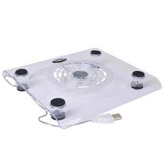 Fan - USB Netbook/Notebook Cooler Pad w/60mm Fan (Clear)