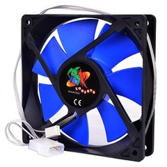 Fan - Super Silent 120MM 12V Case Fan With 3-Pin and Molex Connectors (Blue)