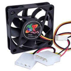 Case Fan w3-Pin & 4-Pin Connectors (Black) 60mm