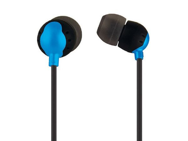 Audio - Enhanced Bass Earphones with Built-in Microphone and PlayPause Controls - Blue