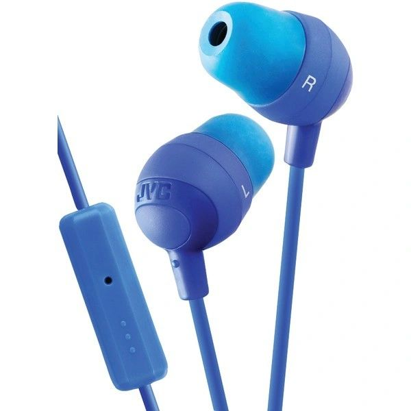 Audio - JVC HAFR37A Marshmallow® Inner-Ear Earbuds with Microphone & Remote (Blue)