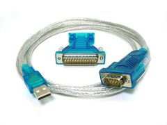 USB to RS232 DB9 male(Serial) / DB25 male Converter Cable