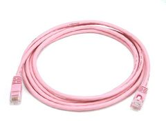 Cable - Cat5e 24AWG UTP Ethernet Network Patch Cable, 7ft Pink