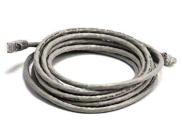 Cable - Cat5e 24AWG UTP Ethernet Network Patch Cable, 14ft Gray