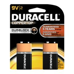 Battery - Duracell Coppertop 9V Duralock 2-Pack