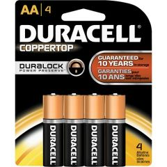Battery - Duracell Coppertop AA Duralock 4-Pack