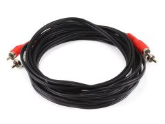 Audio - 12ft 2 RCA Plug2 RCA Plug MM Cable - Black