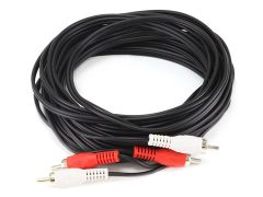 Audio - 25ft 2 RCA Plug2 RCA Plug MM Cable - Black