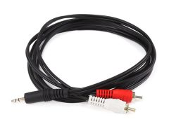 Audio - 6ft 3.5mm Stereo Plug2 RCA Plug Cable - Black