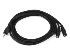 Audio - 6ft 3.5mm Stereo PlugTwo 3.5mm Stereo Jack Cable - Black