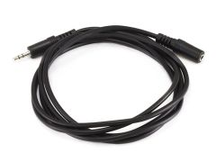 Audio - 6ft 3.5mm Stereo Plug/Jack M/F Cable - Black