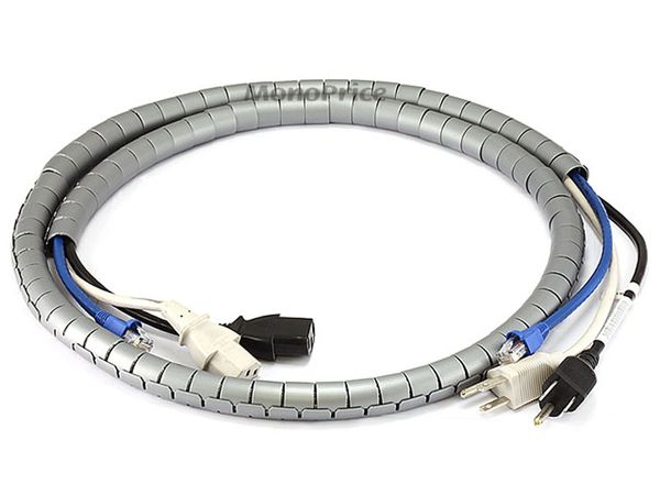 Cable Management - Spiral Wrapping Bands - 15mm x 1.5m (Gray)
