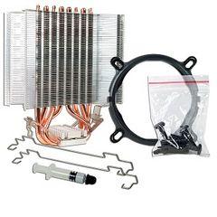 """Fan - Aluminum Heat Sink & 4.72"""" Fan w/Copper Heatpipes & 4-Pin Connector for Intel & AMD CPUs"""