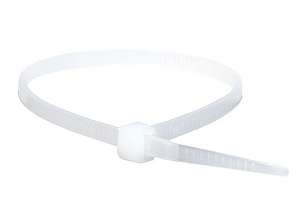 Cable Management - Cable Tie 8 inch 40LBS, 100pcs/Pack - White
