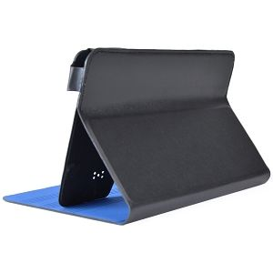 "Misc - 7"" Folio Case w/Stand - Fits 7"" Tablets (Black Exterior / Blue Interior)"