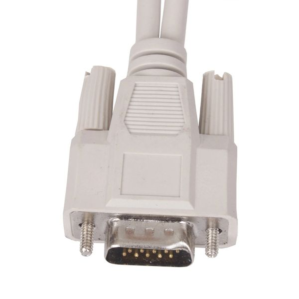 High-Speed VGA Cable 8 Inches 1 to 2 VGA Female (1 HD15 Male to 2 HD15 Female) VGA Monitor Y Splitter Cable -White