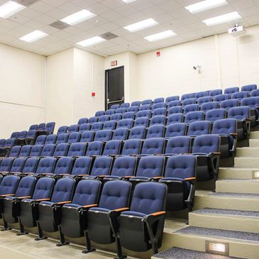 Auditorium seating at the University of North Carolina Greensboro.