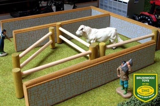 BRUSHWOOD TOYS STONE WALL AND POST RAILS