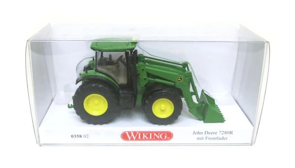 035802 WIKING JOHN DEERE 7280R WITH FRONT LOADER 1:87 SCALE