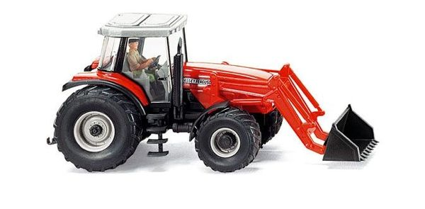 038540 WIKING MASSEY FERGUSON 8280 WITH FRONT LOADER 1:87 SCALE