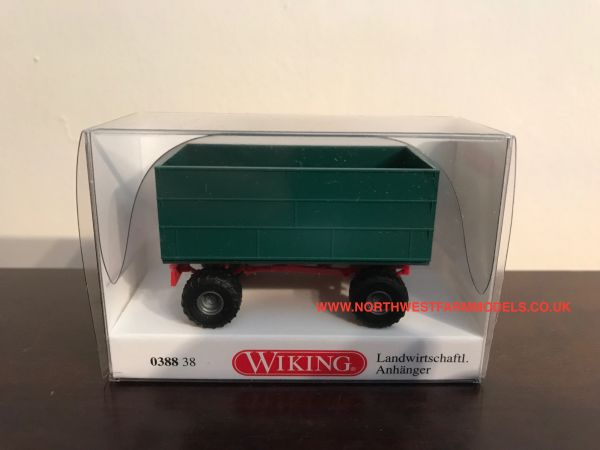 038838 WIKING DOUBLE AXLED BOX TRAILER 1:87 SCALE