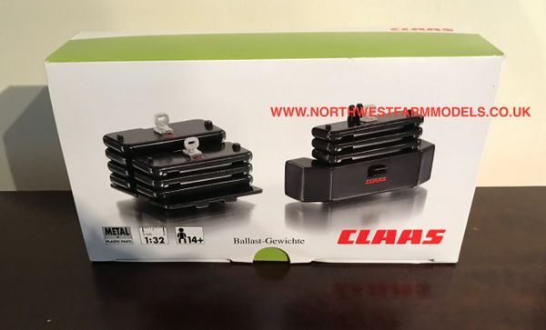 WIKING 1:32 SCALE CLAAS XERION WEIGHT SET (DEALER BOX)