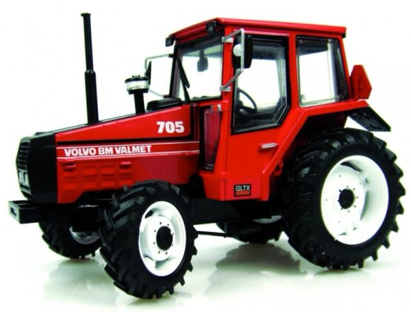 UNIVERSAL HOBBIES 1:32 SCALE VOLVO BM VALMET 705 RED MODEL TRACTOR