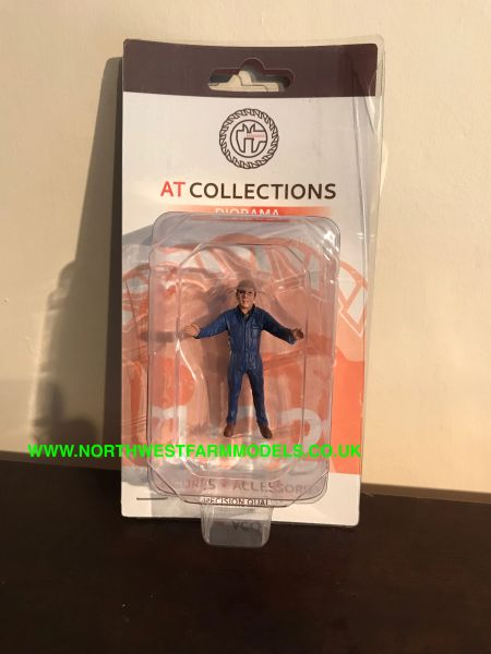 "AT COLLECTIONS 1:32 SCALE ""FARMER HOLDING TYRE"""