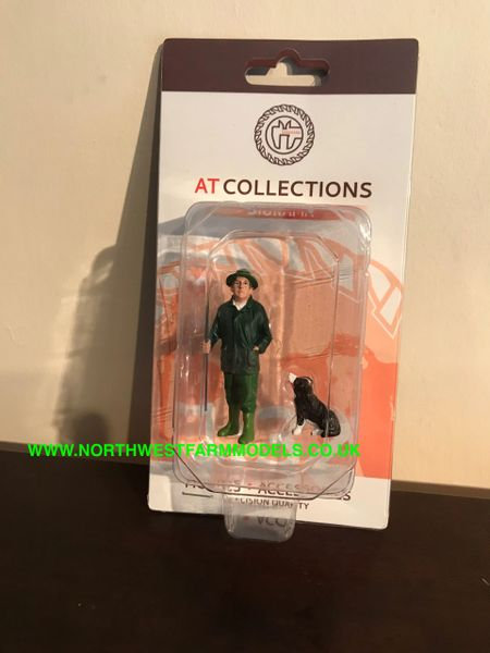 """AT COLLECTIONS 1:32 SCALE """"JACK WITH BORDER COLLIE"""" FIGURE"""
