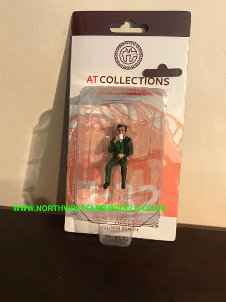 "AT COLLECTIONS 1:32 SCALE ""JUSTIN DRINKING COFFEE"" FIGURE"