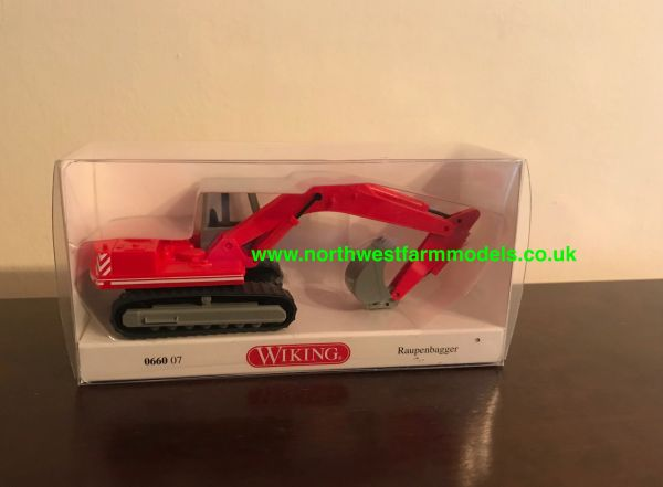 WIKING 1:87 SCALE RED EXCAVATOR 066007