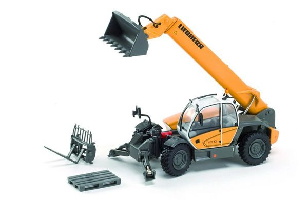 ROS 00197 1:50 SCALE LIEBHERR 435.13 TELEHANDLER WITH ATTACHMENTS