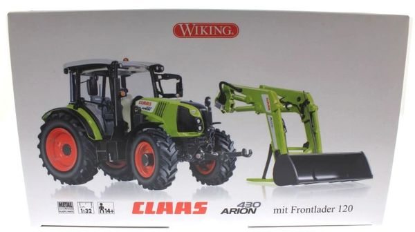 WIKING 1:32 SCALE CLAAS ARION 430 WITH FL120 FRONT LOADER
