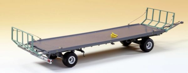 WIKING 1:32 SCALE OEHLER ZDK 120B TWO AXLE BALE TRAILER WITH BALES