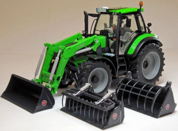 WEISE TOYS 1041 1:32 SCALE DEUTZ FAHR AGROTRON 6190 C SHIFT WITH FRONT LOADER