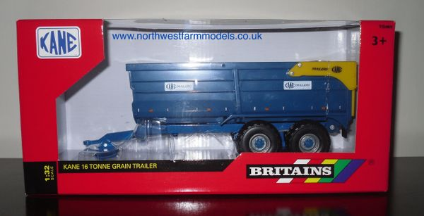 42701 Britains Farm KANE 16 tonne Grain Trailer (Grey Wheels)