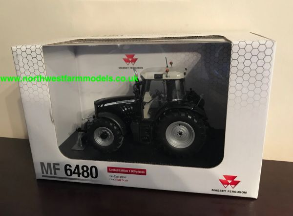 UNIVERSAL HOBBIES 1:32 SCALE MASSEY FERGUSON 6480 BLACK LIMITED EDITION