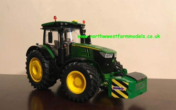 WIKING 1:32 SCALE JOHN DEERE 7310R DIECAST MODEL TRACTOR WITH SUMO FRONT WIEGHT BLOCK