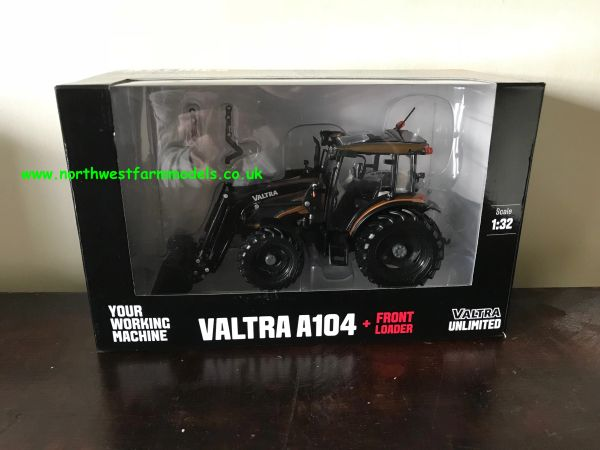 ROS 1:32 SCALE VALTRA A104 WITH FRONT LOADER LIMITED EDITION BROWN