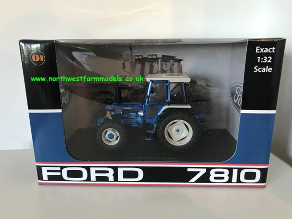 "UNIVERSAL HOBBIES 1:32 SCALE FORD 7810 CHROME BLUE ""LIMITED EDITION"