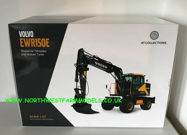 AT COLLECTIONS 1:32 SCALE VOLVO EWR 150E WHEELED EXCAVATOR