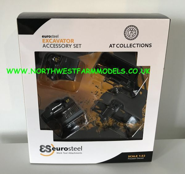 AT COLLECTIONS 1:32 SCALE EUROSTEEL EXCAVATOR ATTACHMENTS