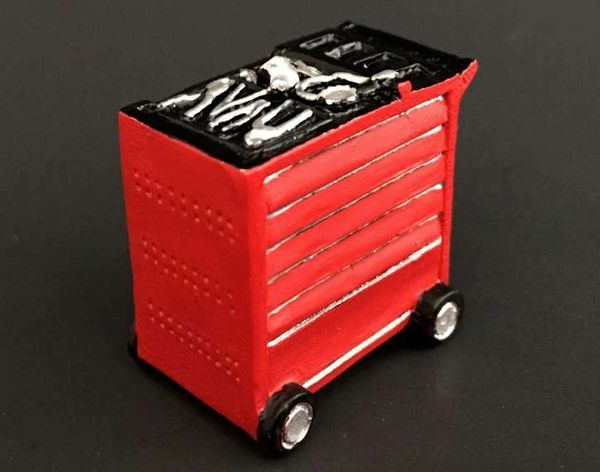 "AT COLLECTIONS 1:32 SCALE TOOL TROLLEY RED ""SNAP ON"""