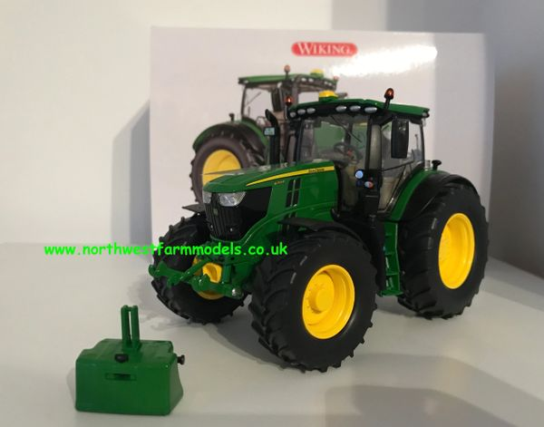 WIKING 1:32 SCALE JOHN DEERE 6250R TRACTOR WITH FRONT WEIGHT