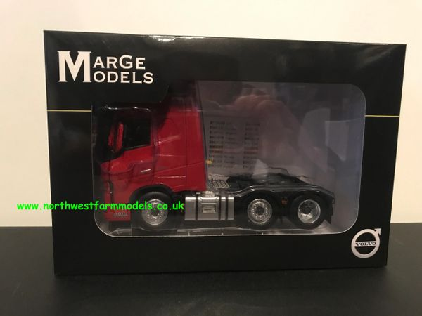 MARGE MODELS 1:32 SCALE VOLVO FH 16 6X2 RED