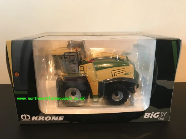 ROS 1/32 Scale Krone BiG X 580 With Maize And Grass Header (Dealer Box)