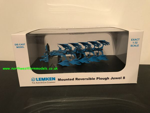 4044 UNIVERSAL HOBBIES 1/32 SCALE LEMKEN MOUNTED REVERSIBLE PLOUGH JUWEL 8